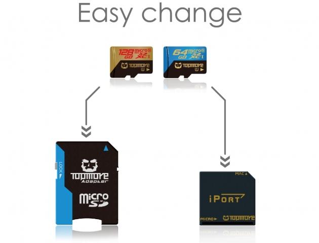 iport Mac microSD Memory Card Adapter Converter for Mac 8